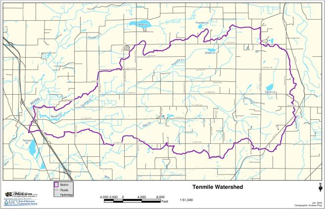 TCWP watershed boundary map - Phay